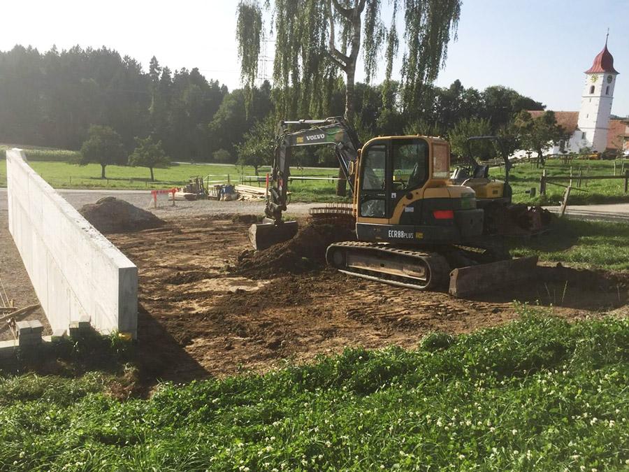 Bewährung für eine Bodenplatte aus Beton